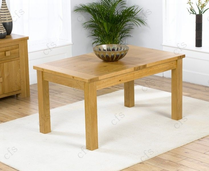 Mark Harris Rustique Solid Oak 180cm Extending Dining Set with 4 Stefini Beige Dining Chairs