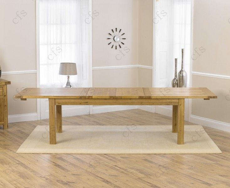 Mark Harris Rustique Solid Oak 220cm Extending Dining Table with 6 Pailin Beige Chair