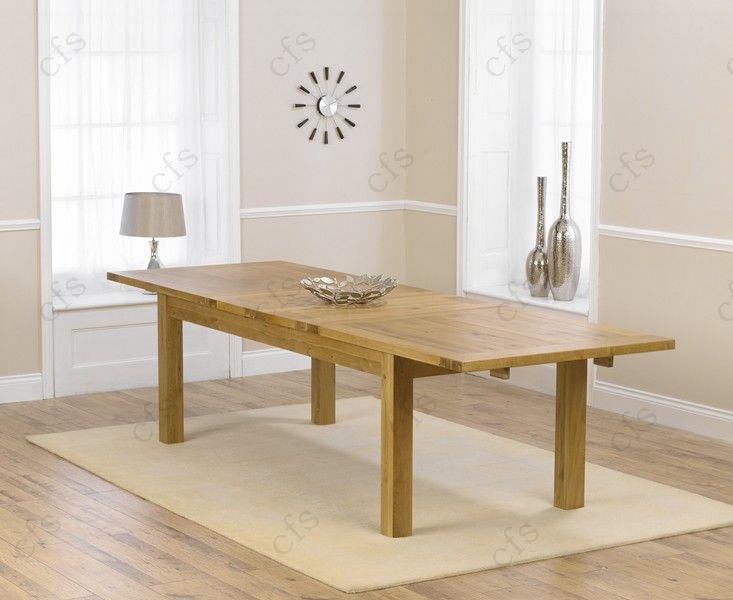 Mark Harris Rustique Solid Oak 220cm Extending Dining Table with 6 Stefini Grey Chair