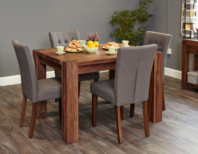 Baumhaus Shiro Walnut Dining Table - 4 Seater