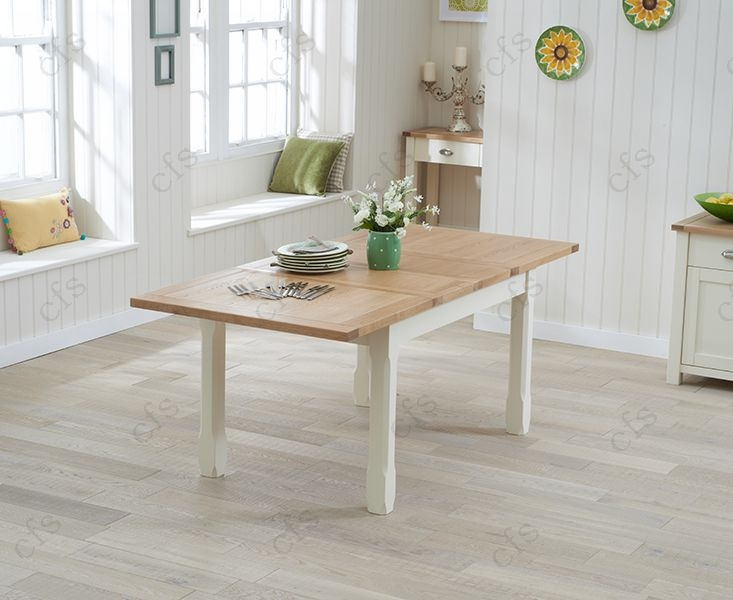 Mark Harris Sandringham Oak and Cream 130cm Extending Dining Table