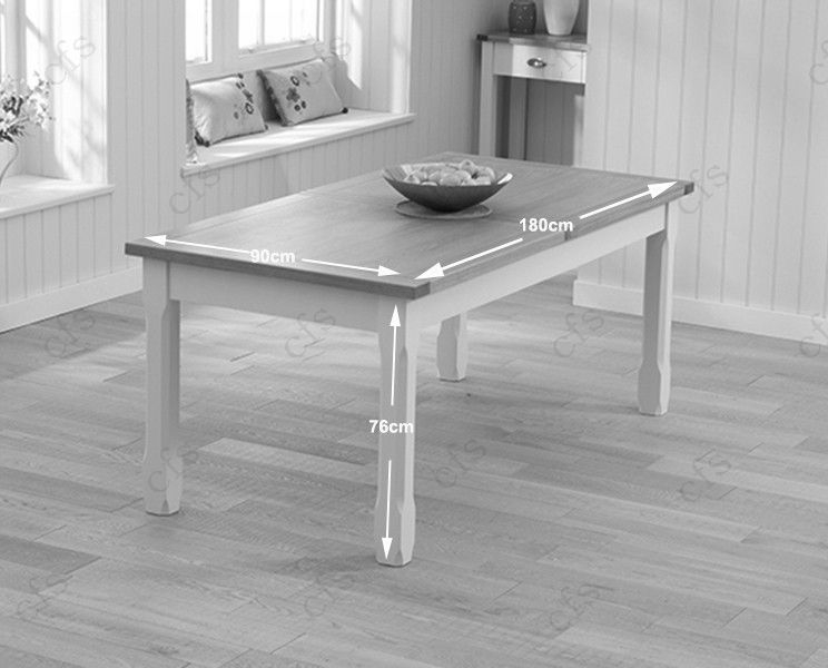 Mark Harris Sandringham Oak and Cream 180cm Extending Dining Table