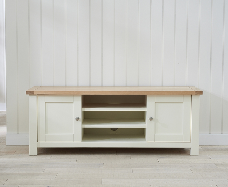 Mark Harris Sandringham Oak and Cream TV Unit