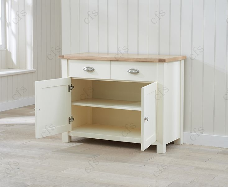 Mark Harris Sandringham Oak and Cream Medium Sideboard