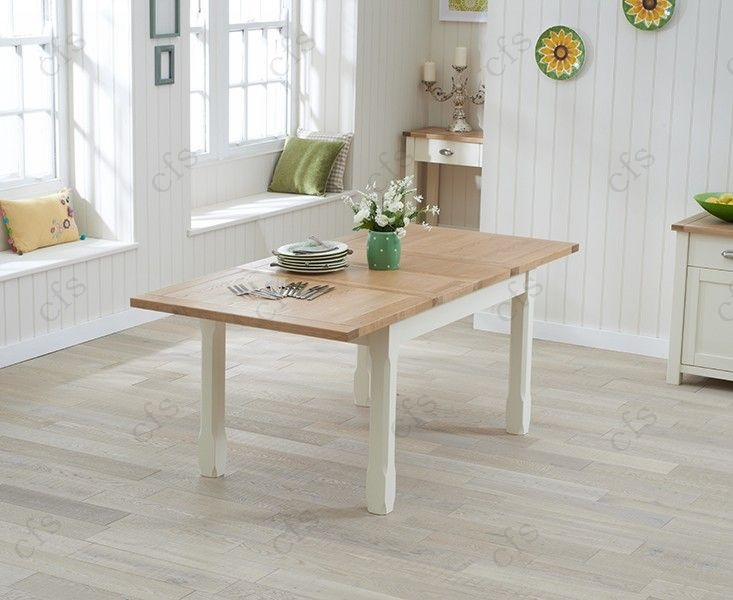 Mark Harris Sandringham Oak and Cream 130cm Extending Dining Set with 6 Dining Chairs