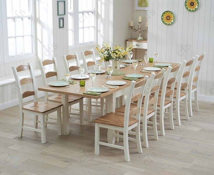 Mark Harris Sandringham Oak and Cream 180cm Extending Dining Set with 6 Dining Chairs