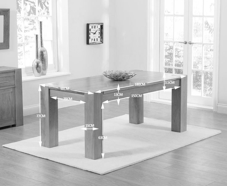 Mark Harris Tampa Solid Oak Dining Table - 180cm