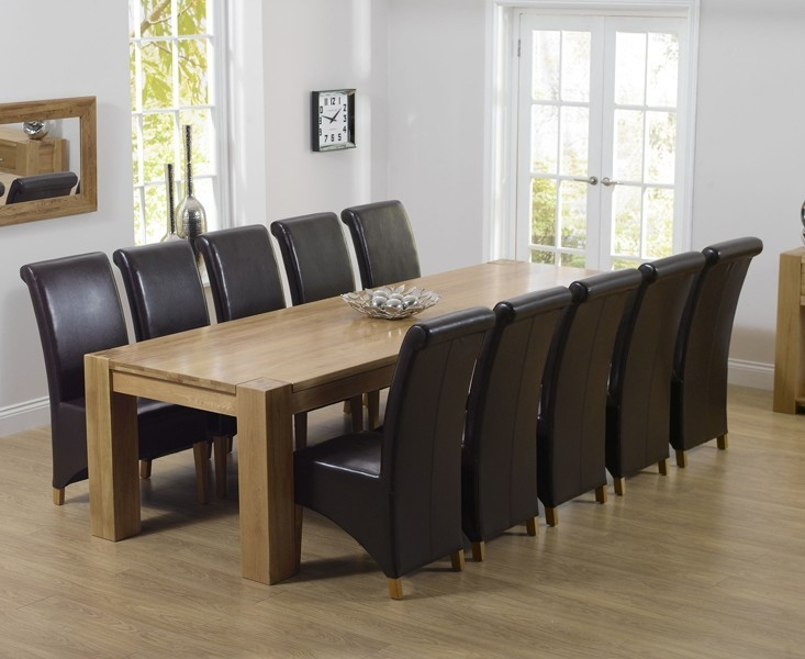 Mark Harris Tampa Solid Oak Dining Table - 300cm