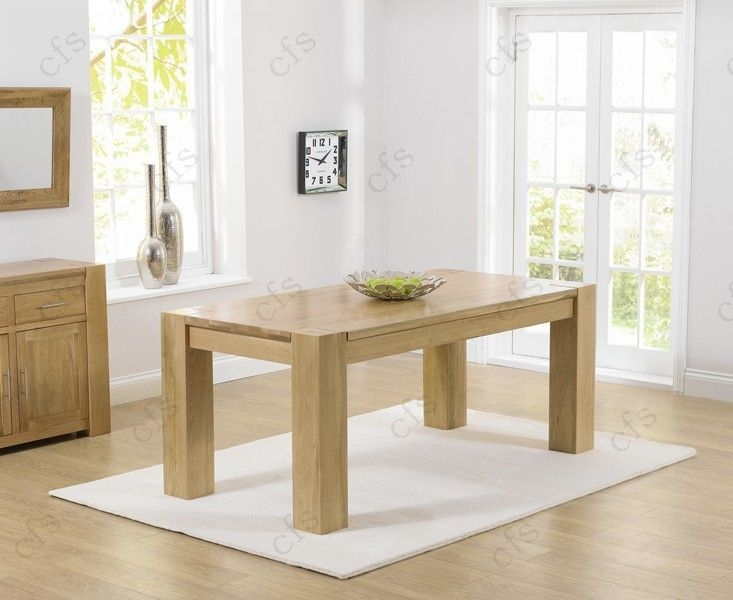 Mark Harris Tampa Solid Oak 180cm Dining Table with 6 John Louis Brown Chairs