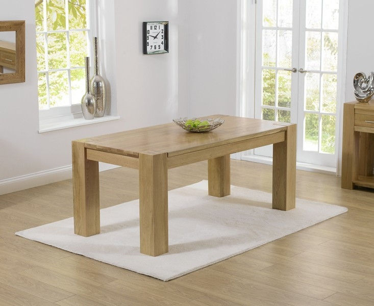 Mark Harris Tampa Solid Oak Dining Set - 220cm with 6 Kalim Grey Chairs