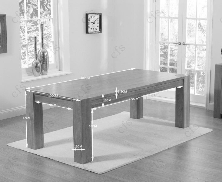 Mark Harris Tampa Solid Oak 300cm Dining Table with 10 Valencia Timber Seat Chairs