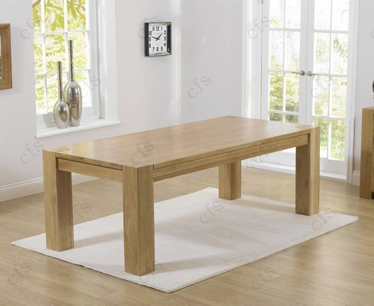 Mark Harris Tampa Solid Oak 300cm Dining Table with 10 Roma Cream Chairs