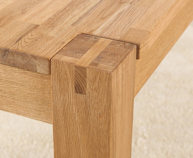Mark Harris Verona Solid Oak Dining Table   120cm Rectangular Extending