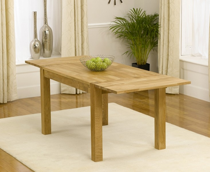 Mark Harris Verona Solid Oak Dining Set - 120cm Extending with 4 Roma Brown Chairs