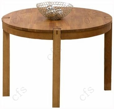 Mark harris verona solid oak 110cm round dining table with for 110cm round glass dining table