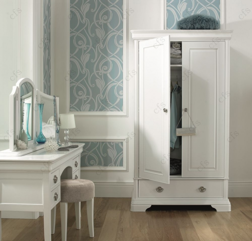 Bentley Designs Chantilly White Dressing Table with Mirror