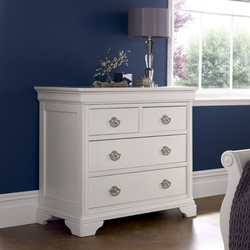 Bentley Designs Chantilly White Chest of Drawer - 2+2 Drawer
