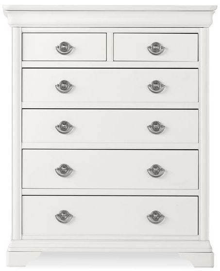 Bentley Designs Chantilly White Chest of Drawer - 2+4 Drawer