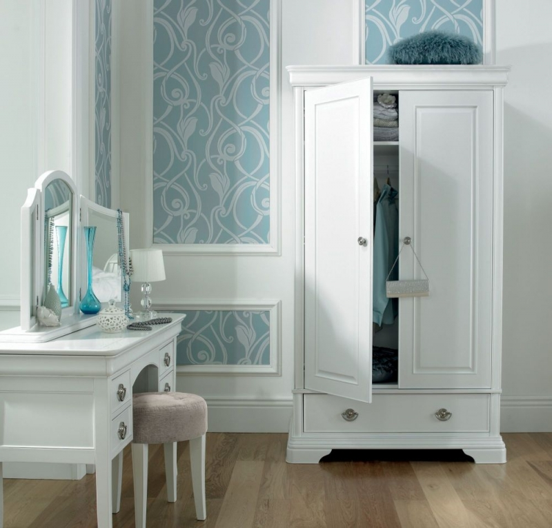 Bentley Designs Chantilly White Wardrobe - Double
