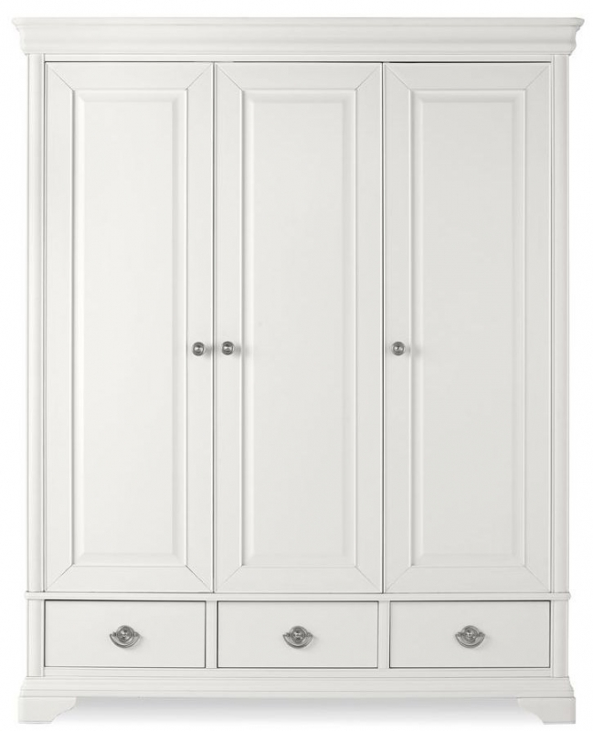 Bentley Designs Chantilly White Wardrobe - Triple