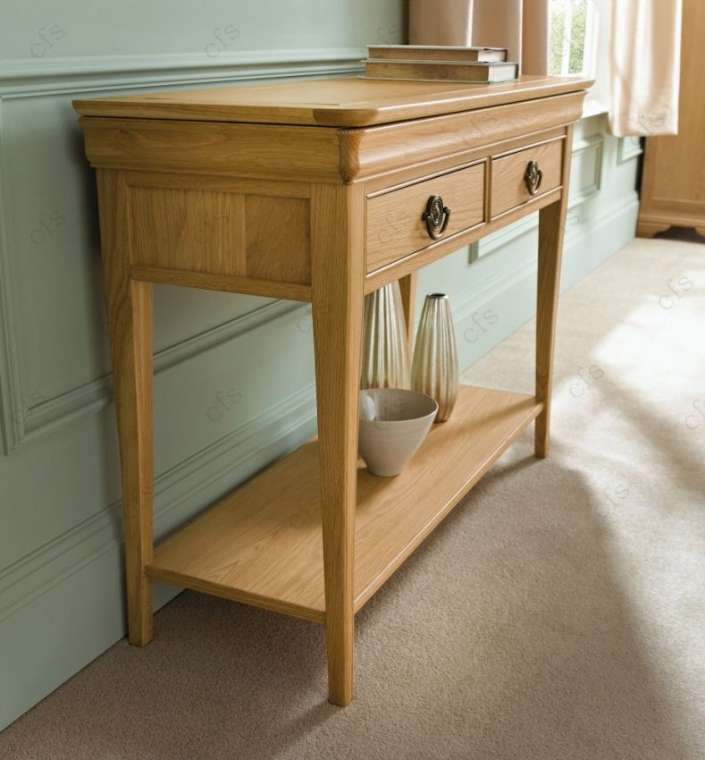 Bentley Designs Chantilly Oak Console Table