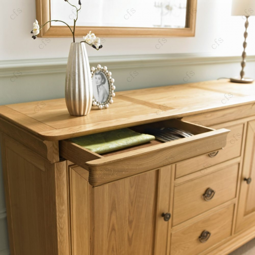 Bentley Designs Chantilly Oak Sideboard - Wide