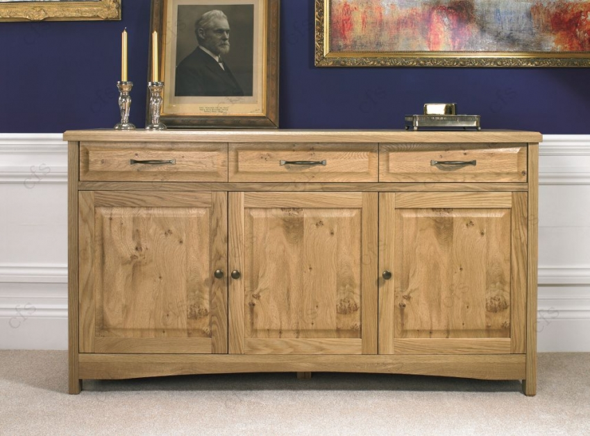 Bentley Designs Turner Oak Sideboard - Wide