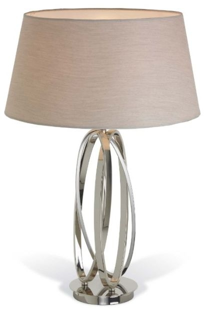 RV Astley Akira Twist Table Lamp - Chrome and Nickel