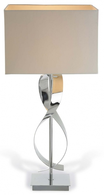 RV Astley Bali Chrome Twist Table Lamp