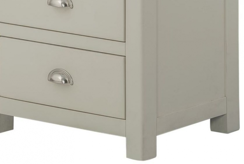 Portland Stone Painted 5 Drawer Wellington Chest
