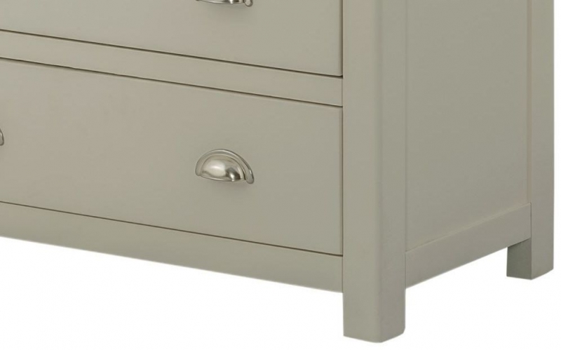 Portland Stone Painted 2 Over 3 Drawer Chest