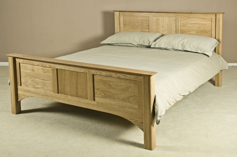 Tuscany Oak High Foot End Bed