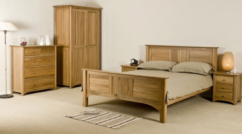 Tuscany Oak Bed - High Foot End