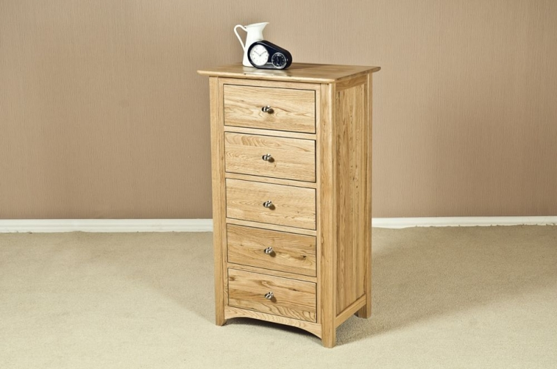 Tuscany Oak Chest of Drawer - 5 Drawer Wellington