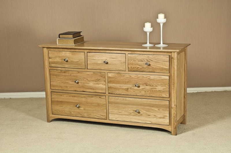 Tuscany Oak Chest of Drawer - 3 Over 4 Drawer