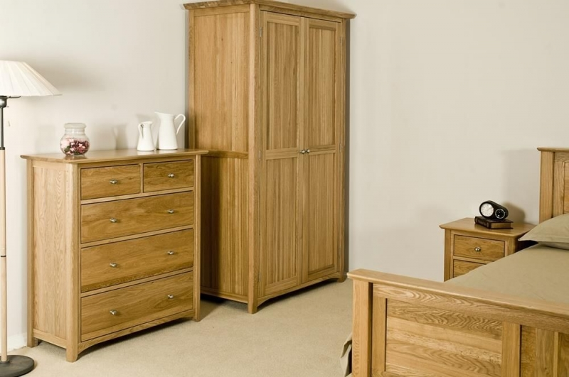 Tuscany Oak Wardrobe - Full Length