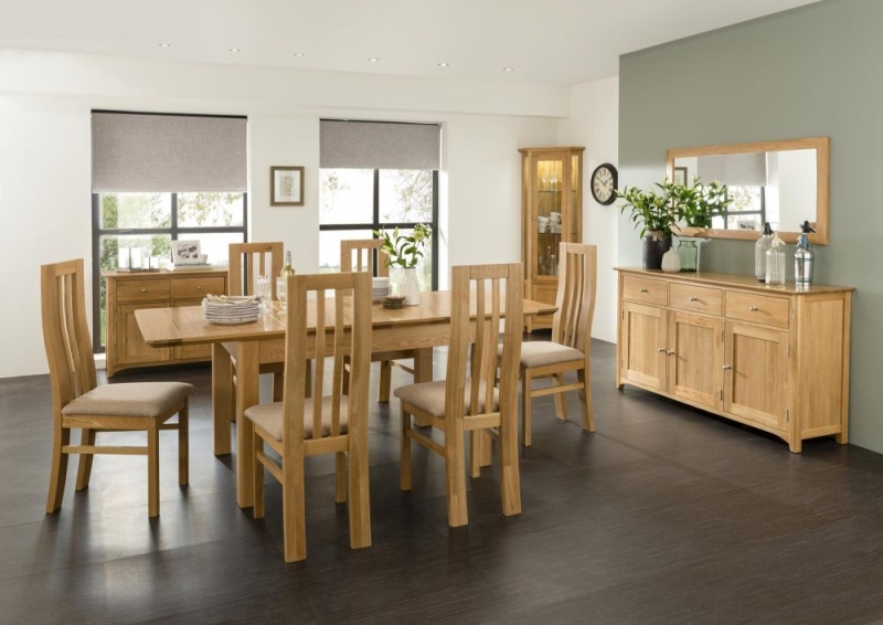 Tuscany Oak Dining Table - 6ft 8in Extending