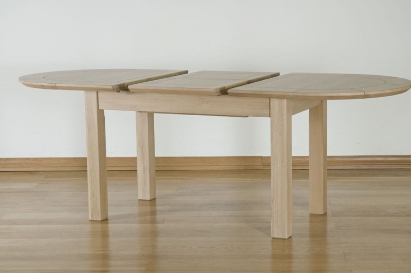 Toulouse Oak Oval Extending Dining Table