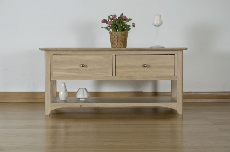 Toulouse Oak Coffee Table with Drawer