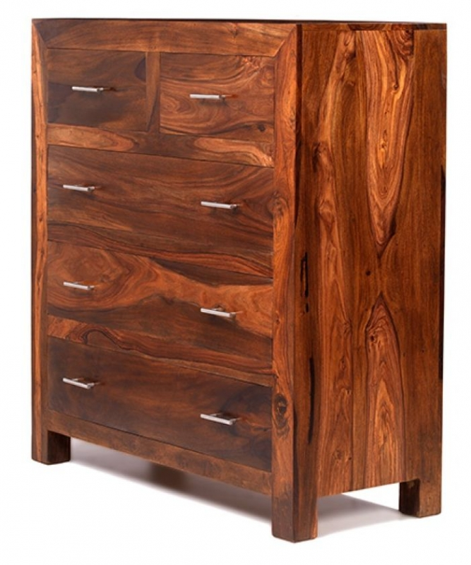Cuba Sheesham 2 Over 3 Chest of Drawer