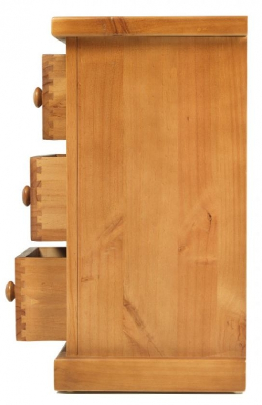 Chunky Pine Small 3 Drawer Bedside Cabinet