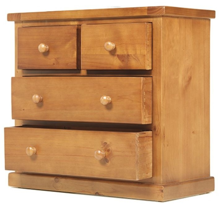 Chunky Pine 2+2 Chest of Drawer