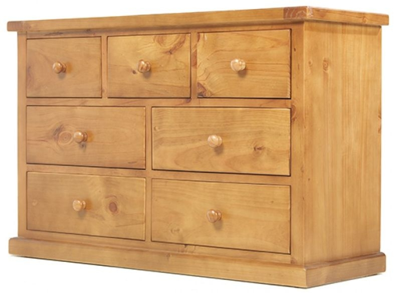 Chunky Pine 3+4 Chest of Drawer