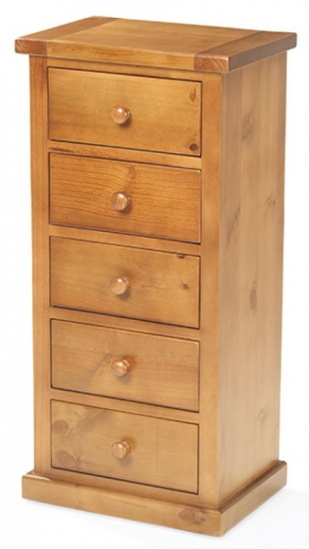 Chunky Pine Wellington 5 Tall Chest of Drawer
