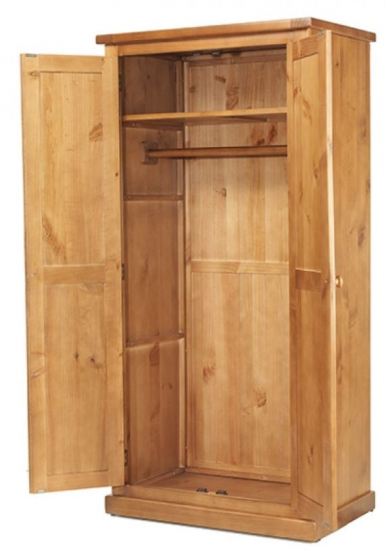 Chunky Pine Ladies Double Wardrobe