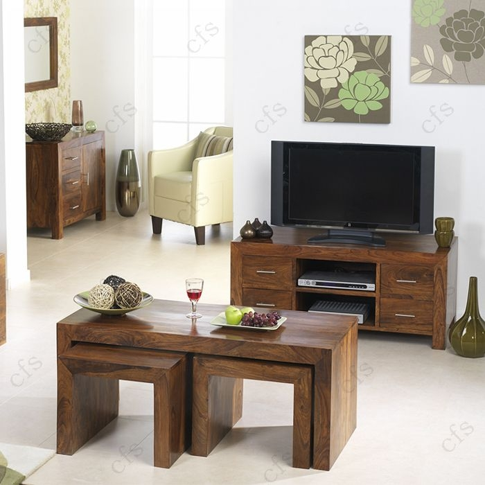 Kuba Sheesham Plasma TV Unit