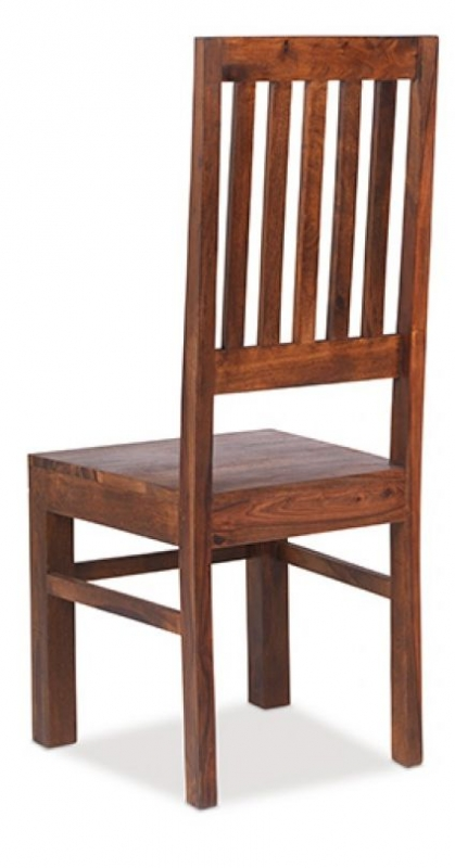 Jali Sheesham High Back Slat Chair (Pair)