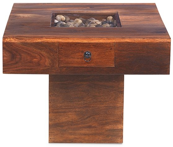 Mica Sheesham Coffee Table without Pebble