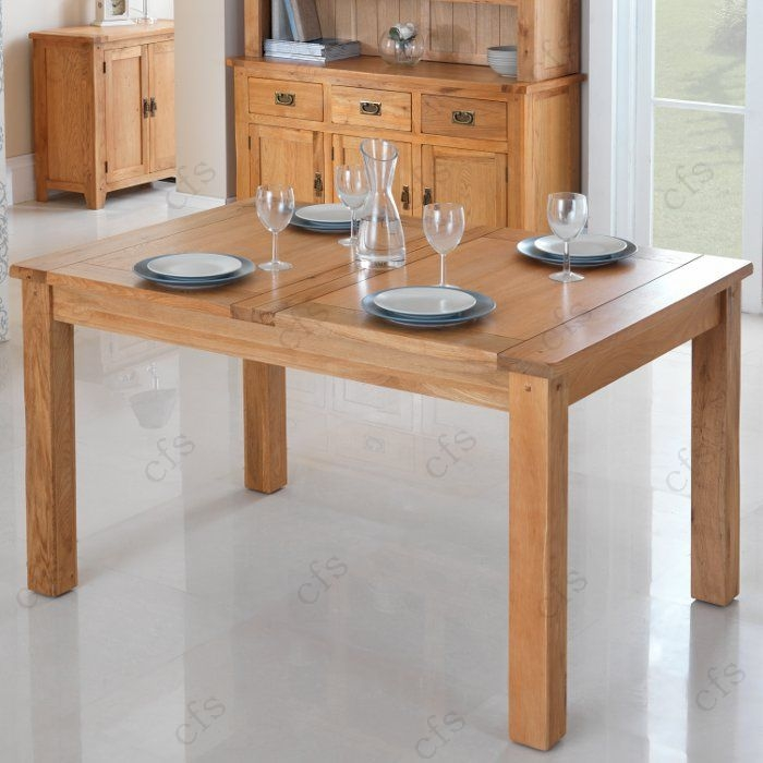 Cherbourg Oak Extending Dining Table