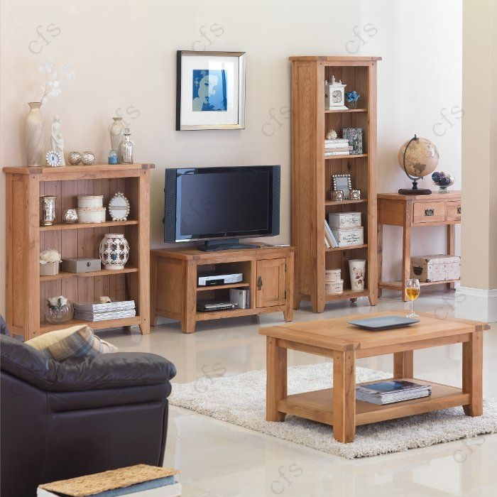Cherbourg Oak Coffee Table with Shelf